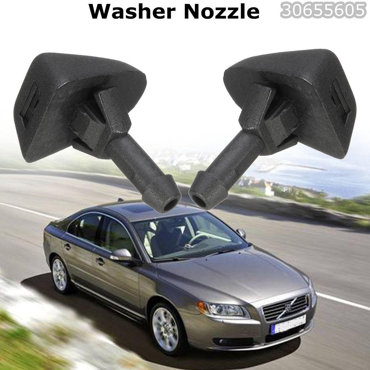 Ein Paar Auto Teile Windschutz Scheibe Düse Squirter Jet 30655605 Windschutzscheibe Washer Düsen Für Volvo XC90 C30 C70 S40