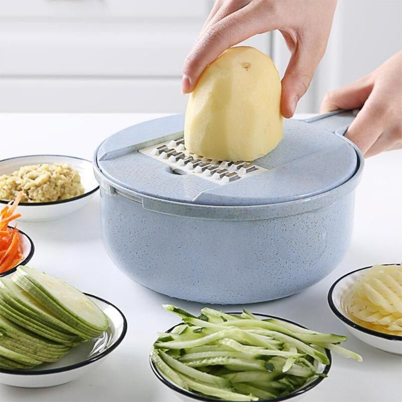 10 pièces/ensemble multifonction légumes fruits trancheuse Cutter ensemble main ronde manuel pomme de terre carotte râpe Chopper trancheuses outils de cuisine