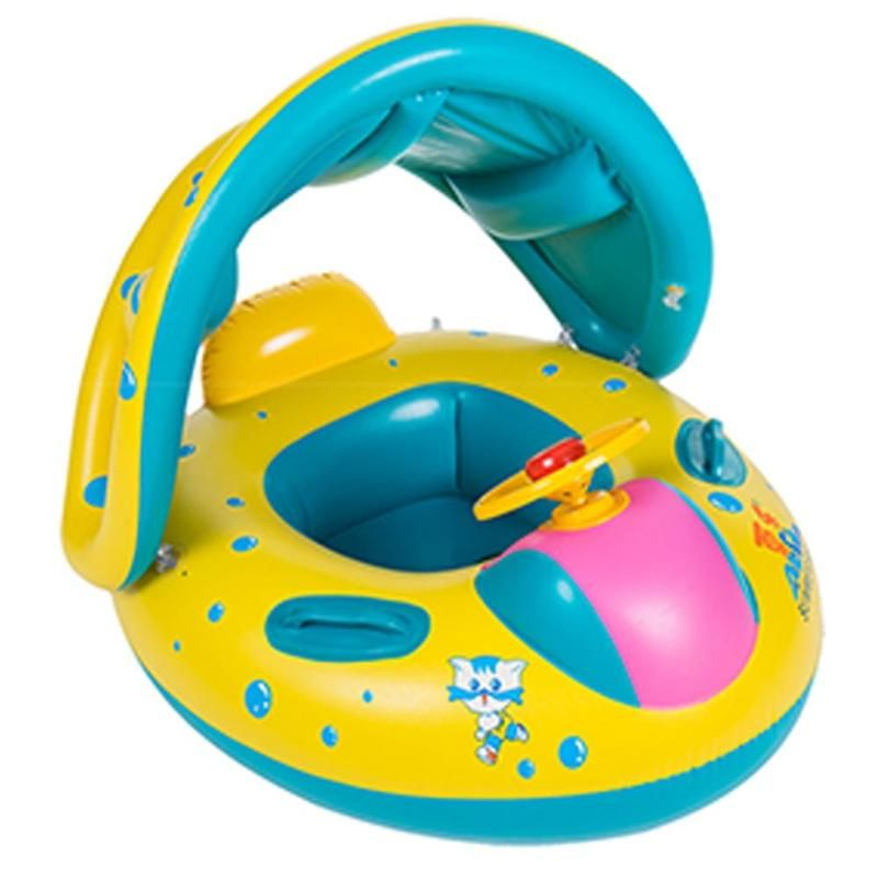 Baby Kids Summer Swimming Pool Swimming Ring Inflatable Swim Float Water Fun Pool Toys Swim Ring Seat Boat Water Sport
