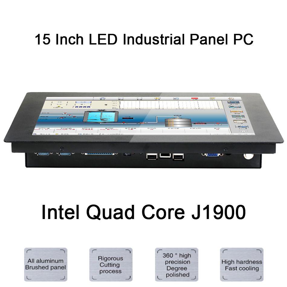 15 zoll LED Industrie Panel PC, Intel Celeron J1900, Windows 7/10/Linux Ubuntu, 10 punkte Kapazitiven Touchscreen, [HUNSN DA09W]