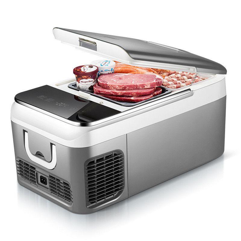 18L Auto Kühlschrank Kompressor DC 12 V 24 V Auto Kühlschrank Mit Gefrierfach Kühler für Auto Startseite Picknick Kälte Gefrierschrank- 20 ~ 10 grad