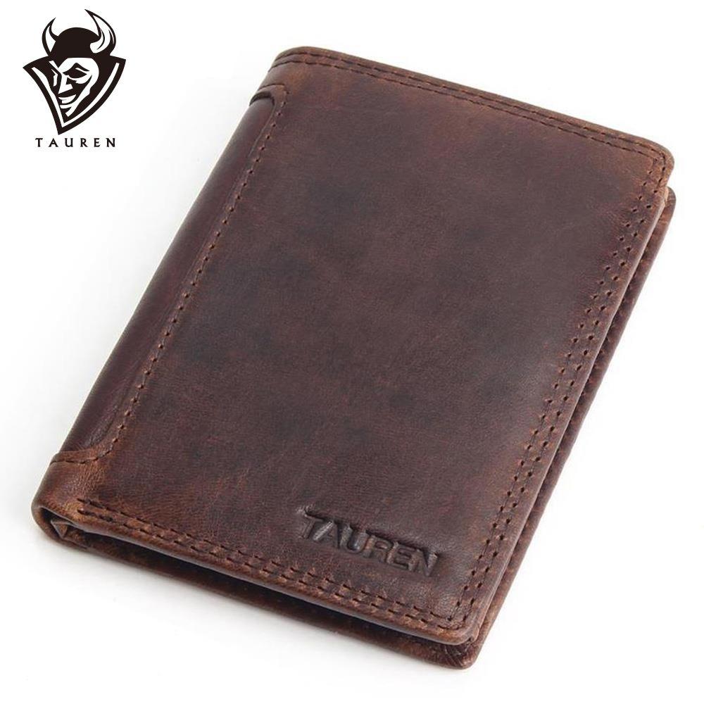 Vintage Designer 100% véritable Carteiras Masculinas en cuir de vachette hommes court portefeuille sac à main porte-carte poche de monnaie hommes portefeuilles