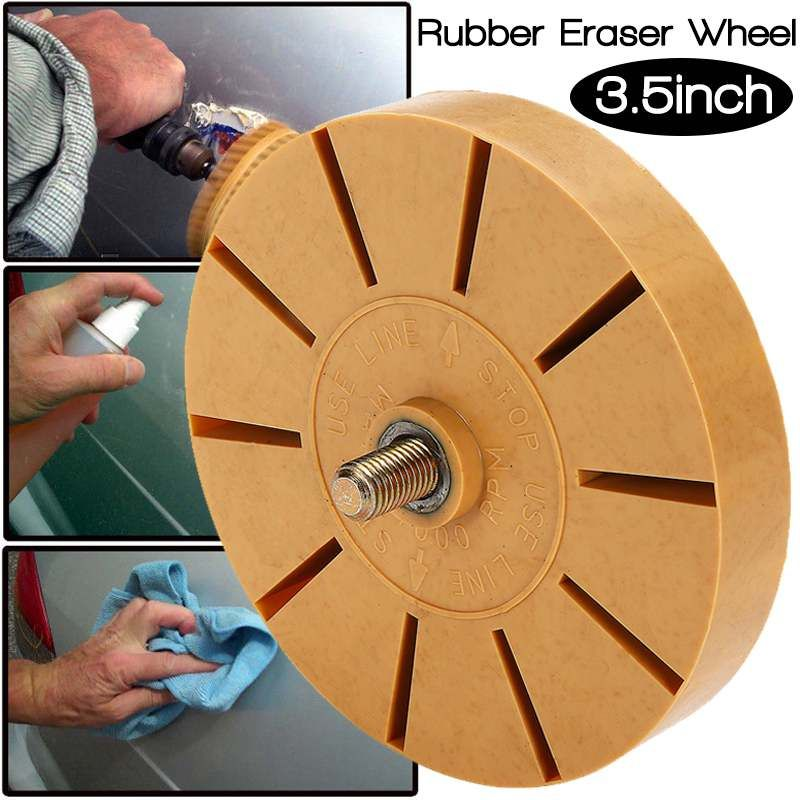 New 3.5 Inch Durable Rubber Eraser Wheel For Remove Car Glue Adhesive Sticker Pinstripe Decal Graphic Auto Repair Paint Tool