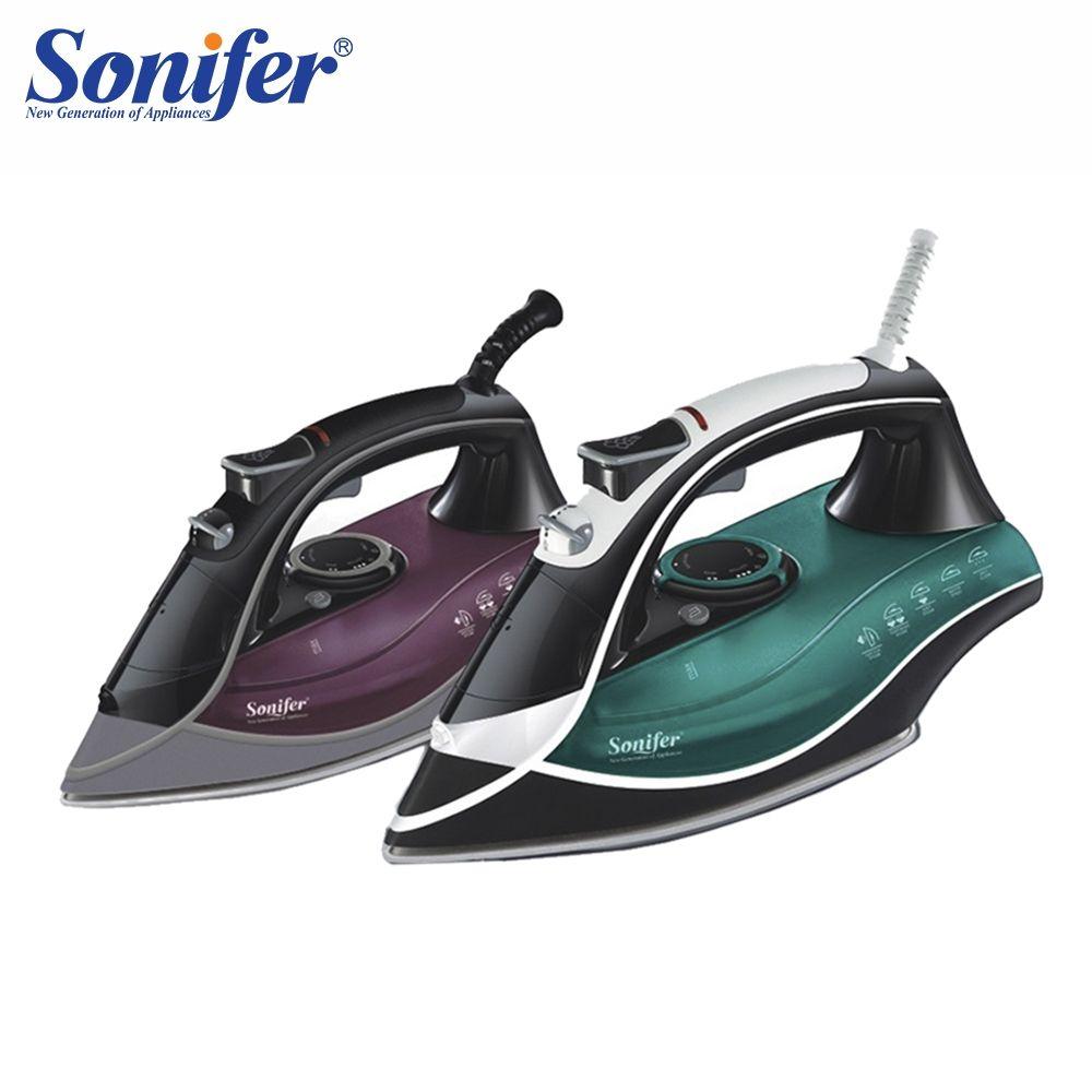 Bunte 2200 W Tragbare Elektrische Dampf Eisen Für Kleidung hohe qualität Drei Gänge Keramik bügelsohle 220 V Sonifer