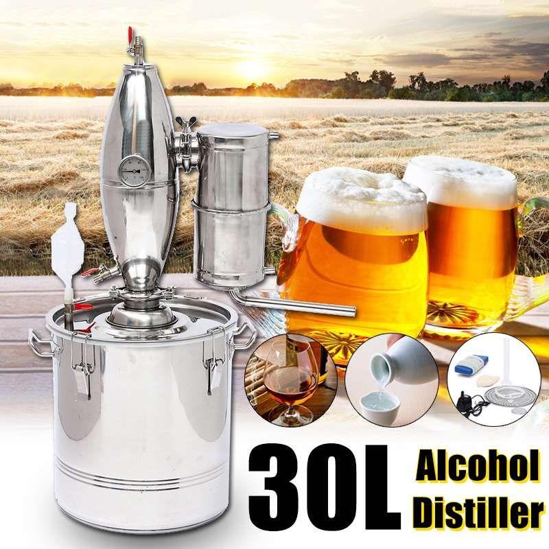 30L DIY Home Distiller Moonshine Alkohol Edelstahl Kupfer Wasser Wein Ätherisches Öl Brauen Kit