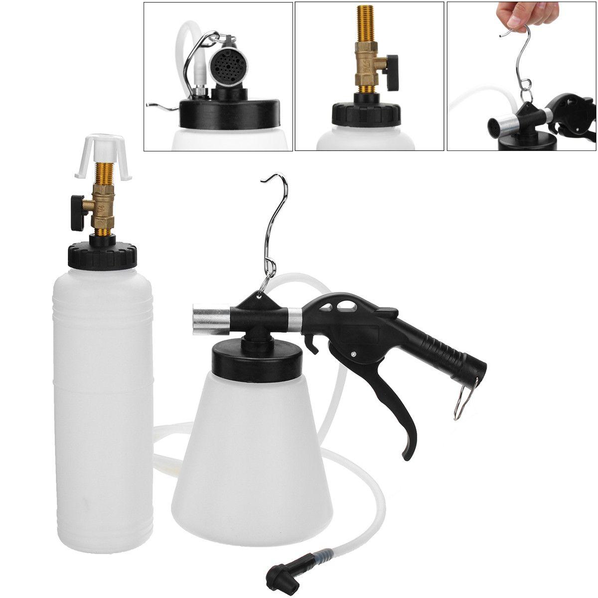 1L Air Brake Bleeder Kit Pneumatic Brake Clutch 90-120 PSI Vacuum Hydraulic Fluid Fill Bottle Set Car Accessories