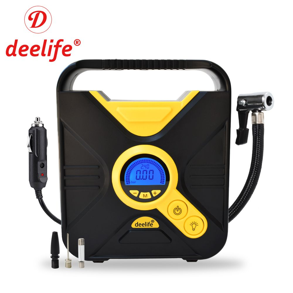 Deelife Digital Car Tire Inflatable Pump Auto Tyre Inflator for Cars Tires Electric 12V Mini Portable Air Compressor
