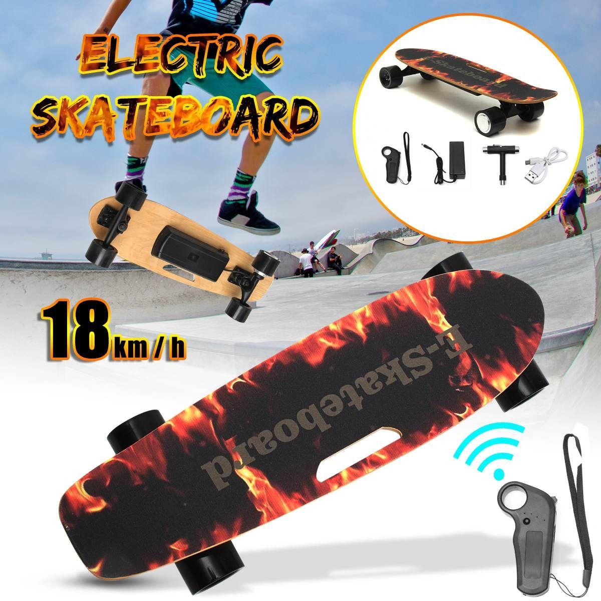 Elektrische Skateboard Vier-rad Longboard Skate Bord Ahorn Deck Drahtlose Fernsteuerungs Für Erwachsene Kinder