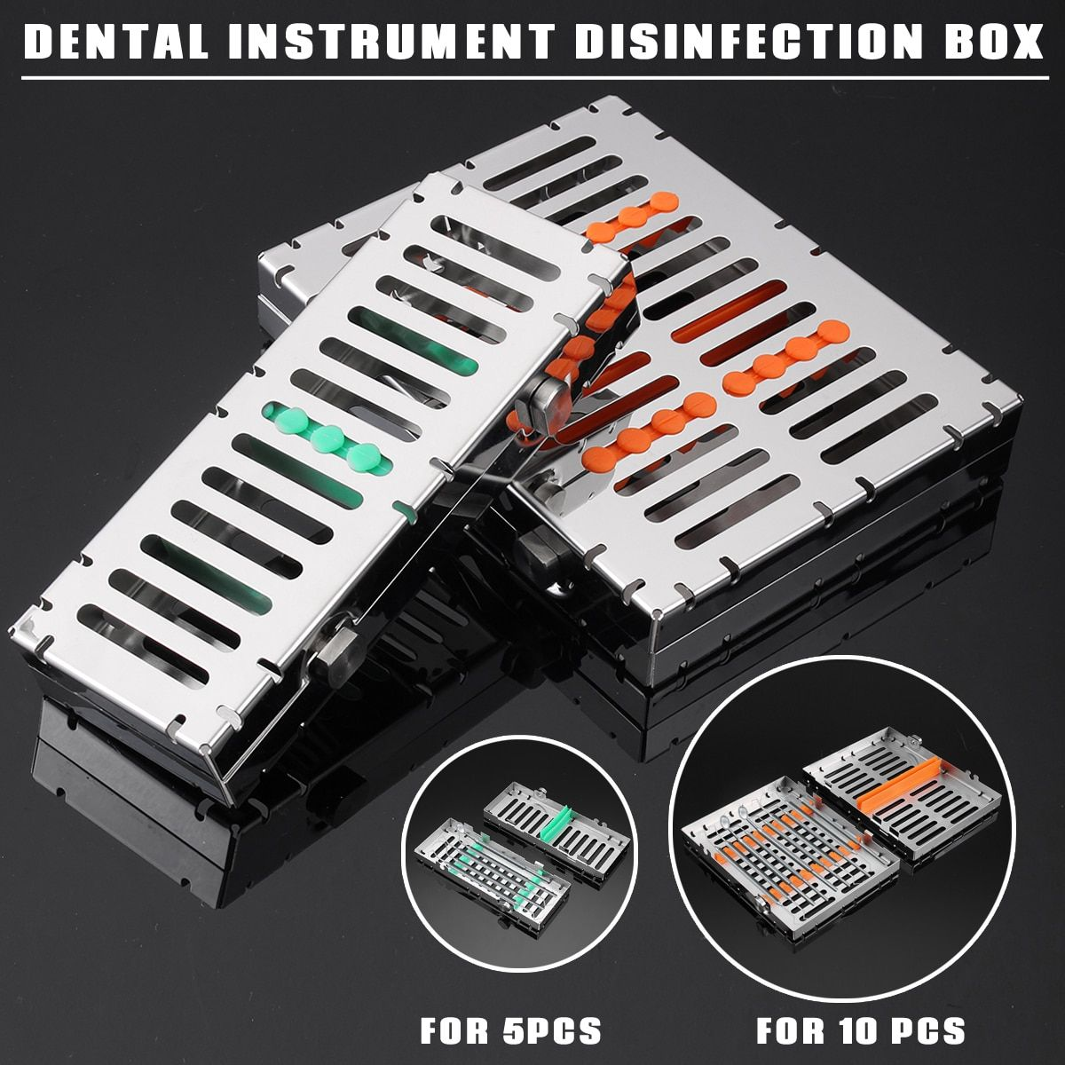 Dental Sterilisation Autoklaven Kassette Tablett Box Rack Gummi Linker Instrument Klinik Desinfektion Halter Für 5/10 Pcs Chirurgische