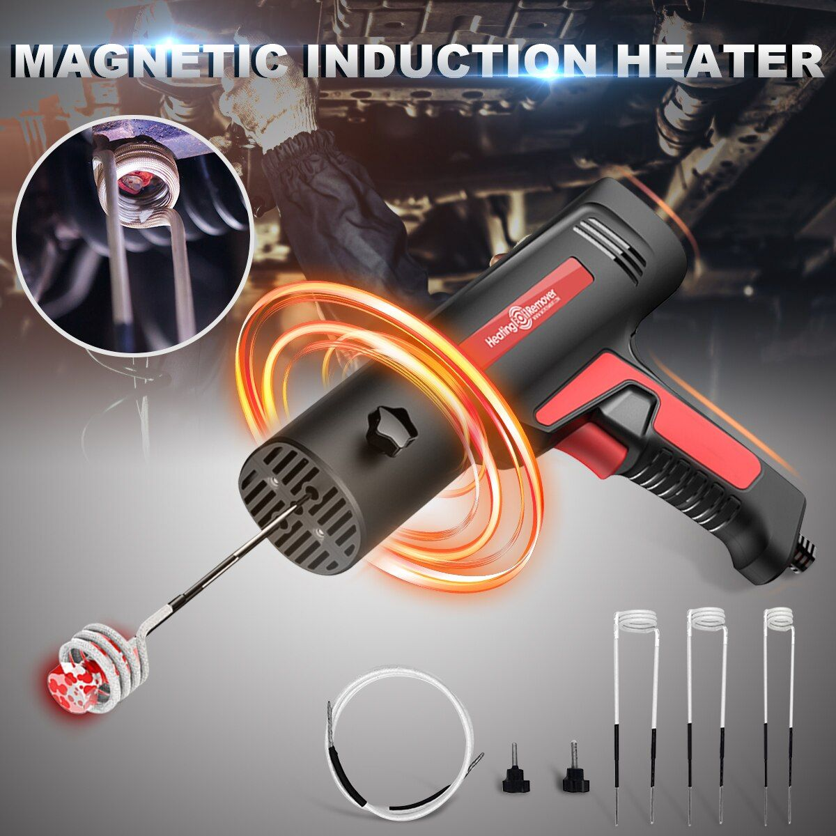 Magnetic Induction Heater Kit For Automotive Flameless Heat 12V-110-220V Repair Car Heating Bolt Remover
