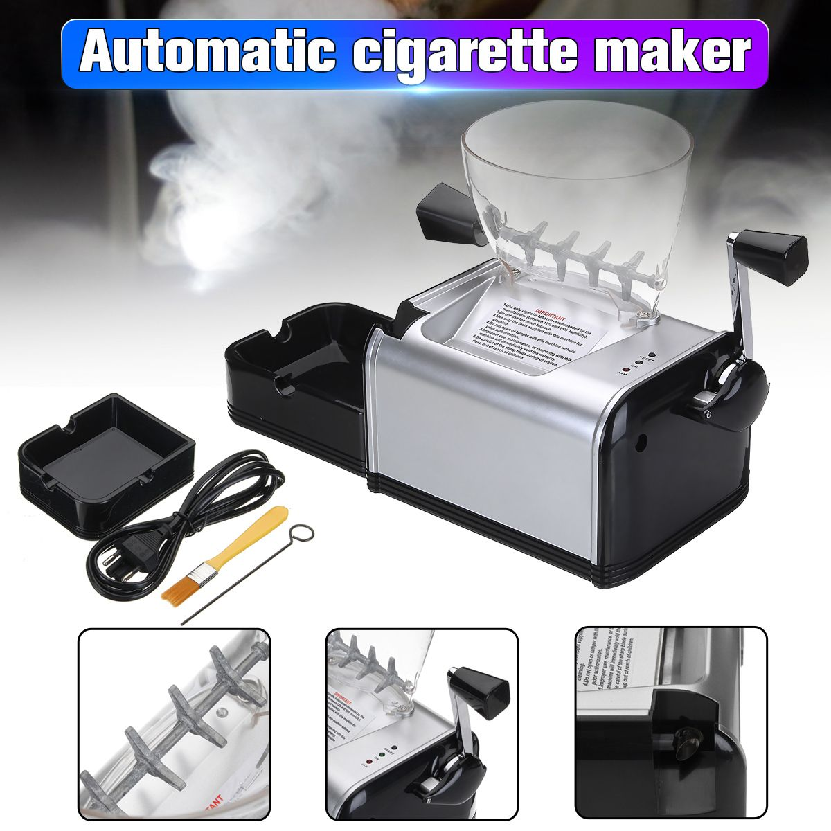 Automatic Electric Making Rolling Machine Cigarette Machine Tobacco Electronic Injector Maker Roller Easy Portable Smoking Tool