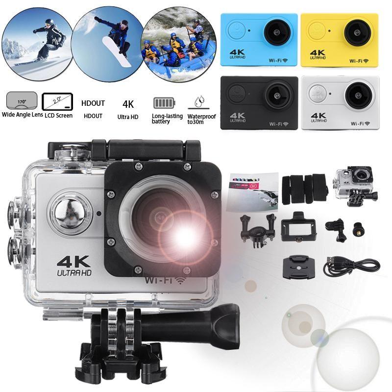 Action Caméra Ultra Hd 4 k 30 m Wifi 2.0 170d Écran 1080 p Sous-Marine Étanche Sport Caméra Aller Extrême pro Cam