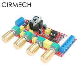 Cirmech NE5532 OP-AMP HI FI Penguat Preamplifier Volume Nada EQ Kontrol Papan DIY Kit dan Produk Jadi