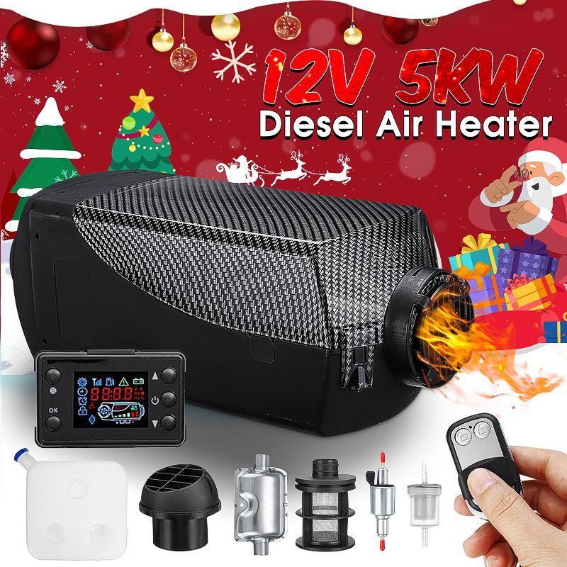 Auto Heizung Diesels Heizung autonomen heizung diesel für 5KW 12 V Luft Parkplatz Wärme Mit Fernbedienung LCD für Anhänger lkw Boot