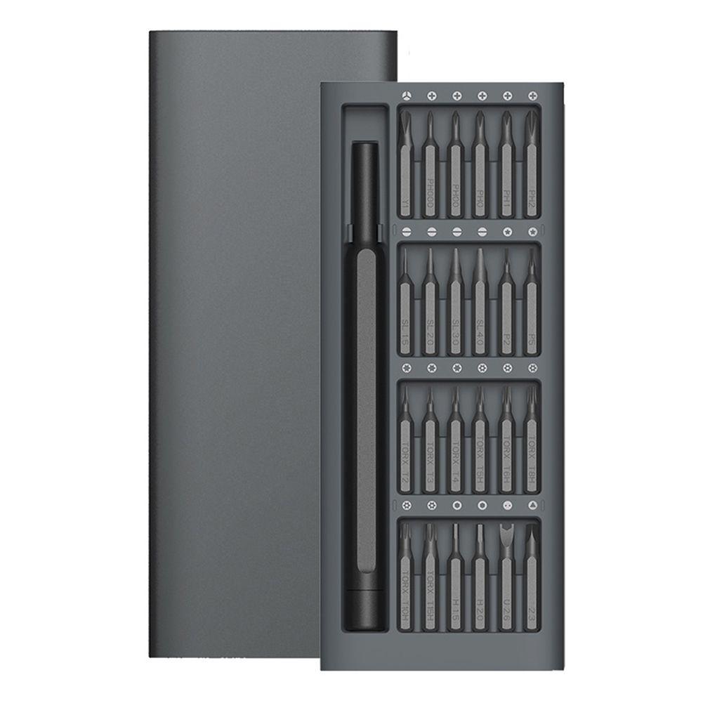 Offre spéciale Kit d'utilisation quotidienne 24 embouts magnétiques de précision boîte en aluminium bricolage tournevis Smart Home Set