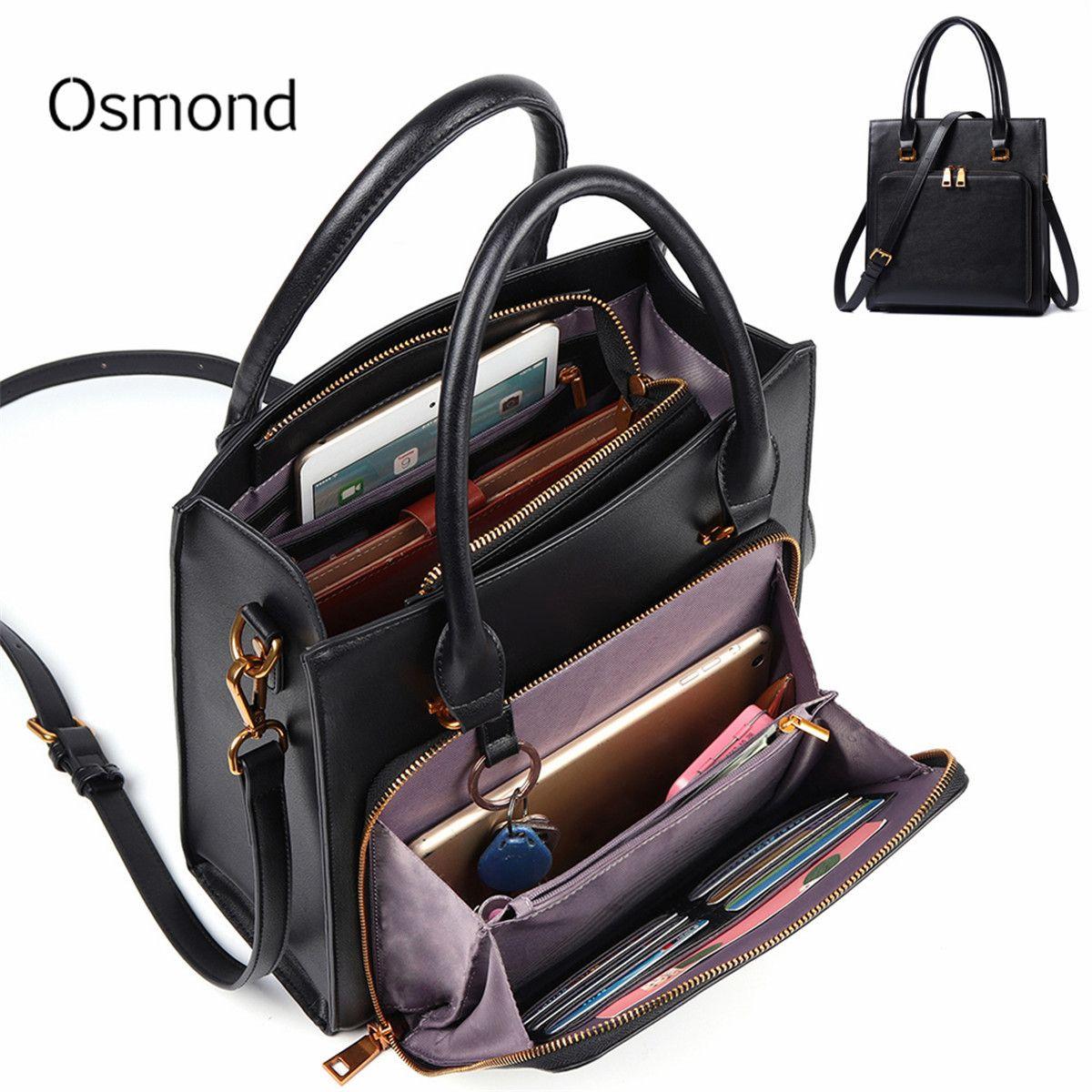 Feminina Bolsa luxe femmes solide multifonction sac à main grande capacité bandoulière sac à bandoulière en cuir embrayage femme sacs à main fourre-tout