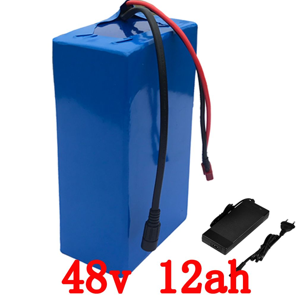 Wholesale 5pcs/Lot 48V 1000W Battery 48V 12AH electric bike battery 48v 12ah lithium battery pack with 30A BMS+54.6V 2A charger