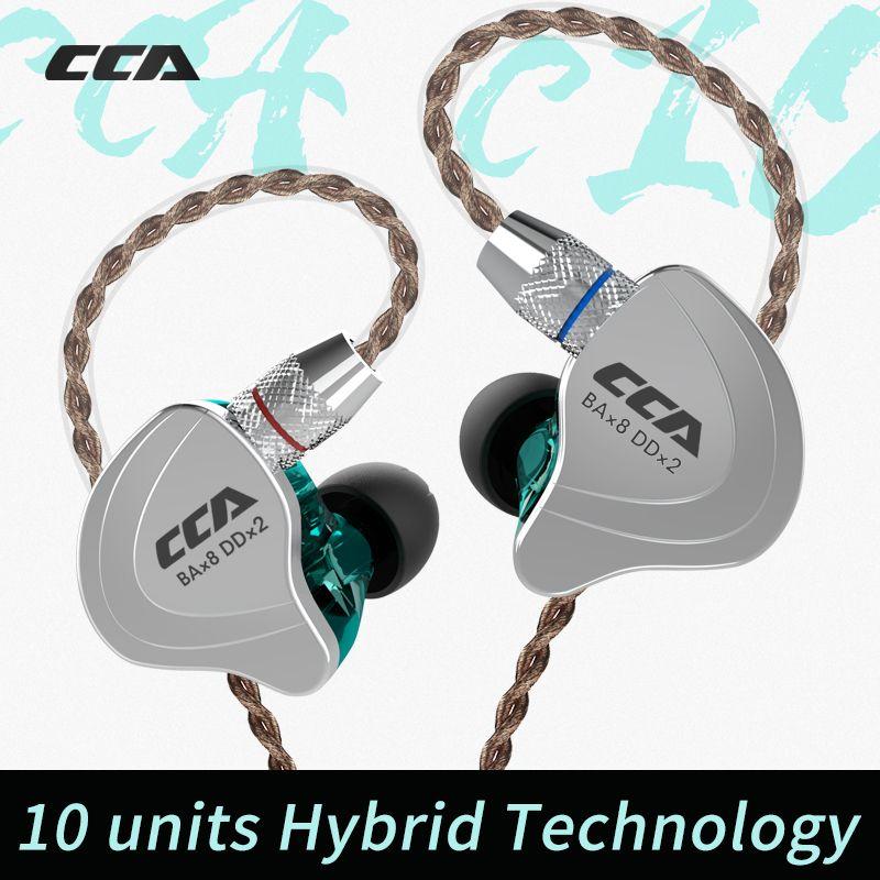 Cca C10 4ba + 1dd Hybrid In Ohr Kopfhörer Hifi Dj Monito Laufsport Kopfhörer 5 Stick Einheit Headset Lärm cancelling Ohrhörer