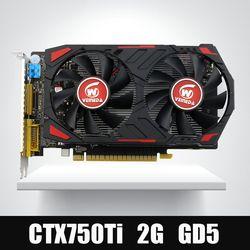 Veineda видео карта оригинальный GPU GTX750Ti 2 ГБ GDDR5 Видеокарты instantkill R7 350, HD6850 для NVIDIA GeForce игры