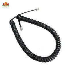 Jenis kabel Telepon Tembaga murni kawat telepon volume panjang kurva Mikrofon konektor 6P4C kabel telepon 3 meter garis handset