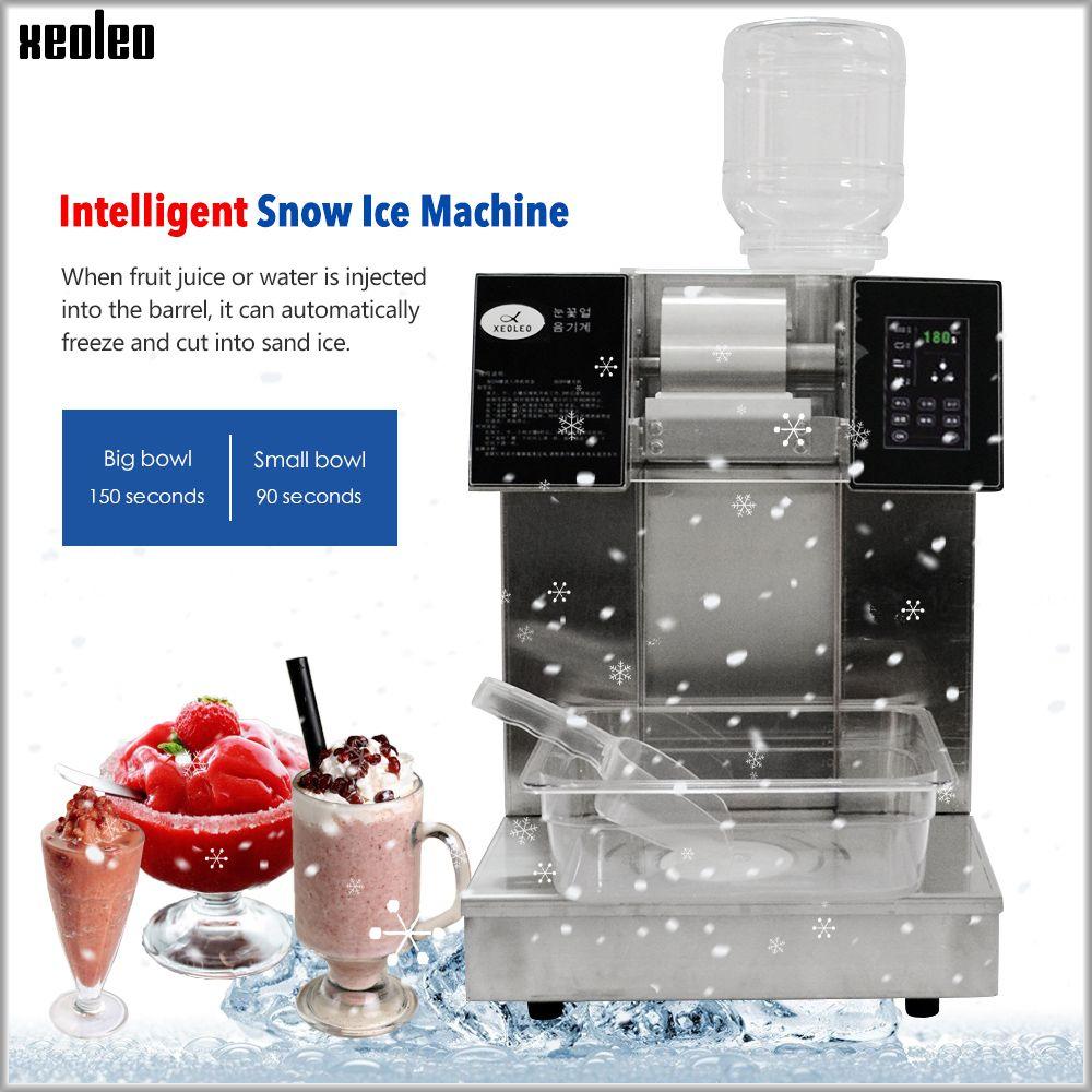 XEOLEO Schneeflocke eis maschine Schnee kegel maker Eis Brecher Kommerziellen stianless stahl Wasser-gekühlt Zerkleinert eis maschine 220 V
