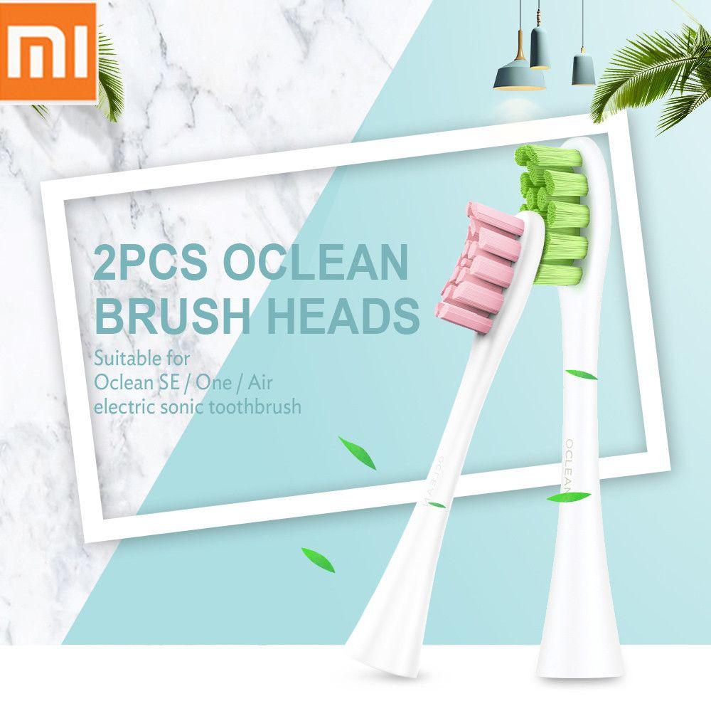D'origine Xiaomi Oclean SE/Un/Air brosse à dents électrique à ultrasons Tête têtes de brosse de rechange 2 pièces Nettoyage En Profondeur brosse à dents Têtes