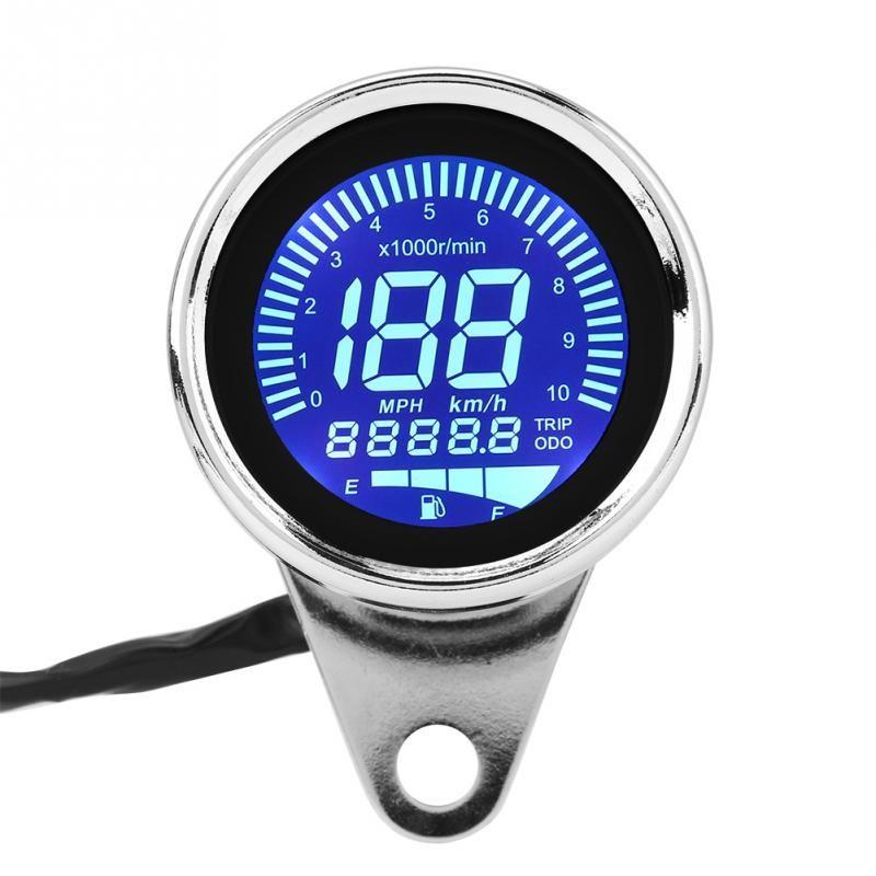 2018 Motorcycle Speedometer LCD Digital Odometer Speedometer Tachometer indicator Motorcycle Scooter Golf Carts ATV Universal