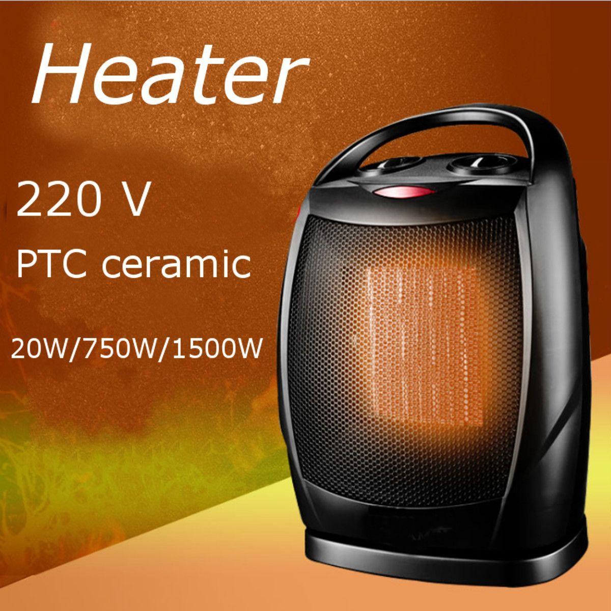 Indoor PTC Keramik Elektrische Tragbare Heizung Mini Energiesparende Desktop Heizlüfter Schütteln Kopf Kühler Wärmer Mit Thermostat