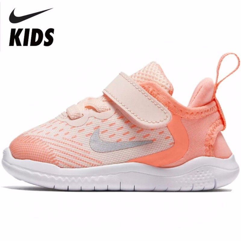 NIKE FREE Original Neue Ankunft Kinder Atmungsaktives Mesh Laufschuhe Komfortable Kinder Sport Turnschuhe # AH3456-800