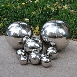 1 шт. 250 мм нержавеющая сталь полый шар зеркальная полированная блестящая сфера для видов орнамента и украшения