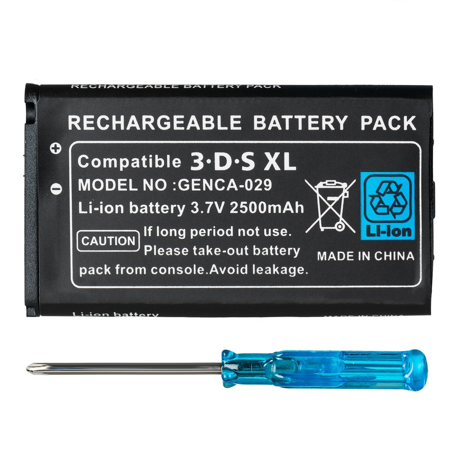 2500mAh 3.7V Rechargeable Lithium-ion Battery + Tool Kit Pack for Nintendo 3DS LL/XL