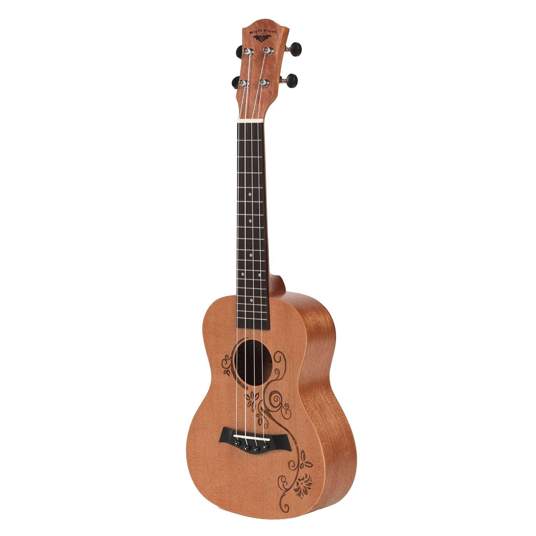 Concert ukulélé 23 pouces Uku 4 cordes guitare acajou cou pour enfants adultes
