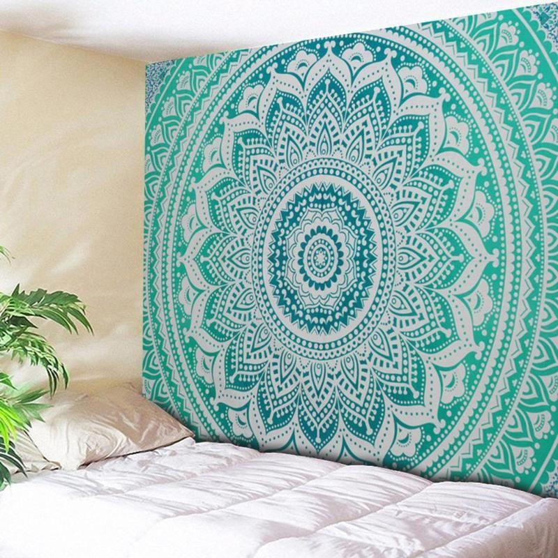 Grande tapisserie indienne Mandala tenture murale bohème serviette de plage Polyester mince couverture Yoga châle tapis couverture