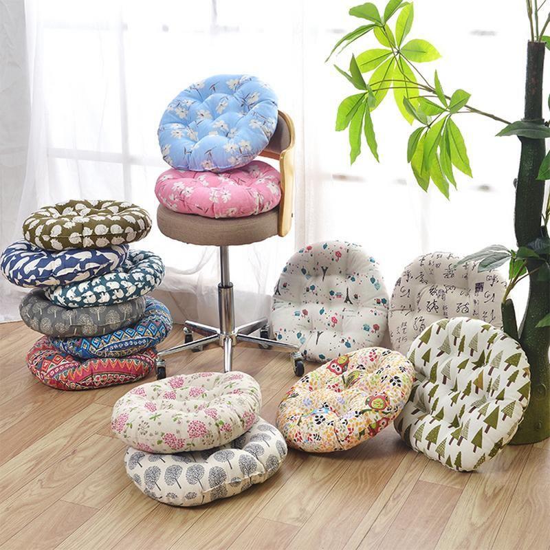 Coussin de chaise coussin de siège tissu rugueux rond coton lin coussin chaise méditante coussin de siège japonais Futon Mat canapé jeter oreiller