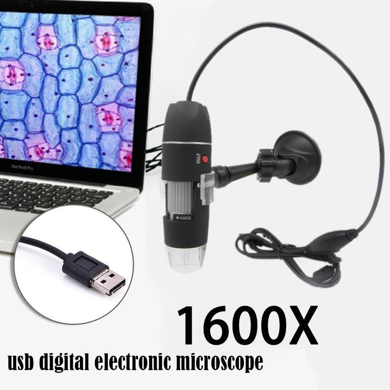 Meilleur prix Mega Pixels 1000X1600X8 LED numérique USB Microscope Microscopio loupe électronique stéréo USB Endoscope caméra