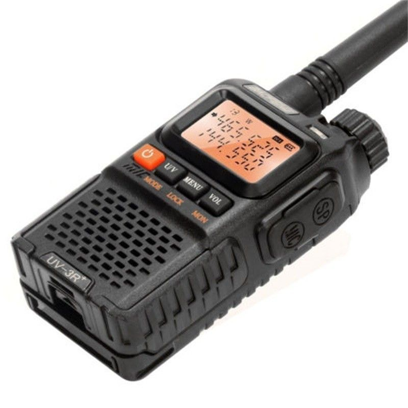 BaoFeng UV-3R Plus Walkie Talkie Plus Portable UHF VHF CB Radio VOX Dual Band Flashlight Mini FM Transceiver Ham Radio