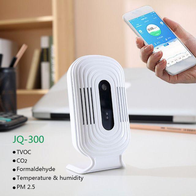 JQ-300 Wifi Digital CO2 PM2.5 HCHO TVOC Formaldehyde Gas Detector Meter Air Analyzers Monitor Tester Sensor Temperature Humidity