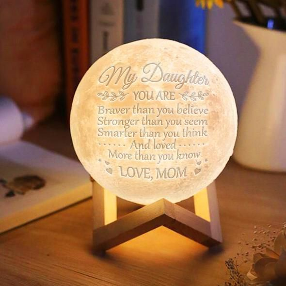 Novelty 3D Printing Moon Light Customized Personality Lunar USB Charging Night Lamp Touch Control Dim Brightness 2 Colors CF750