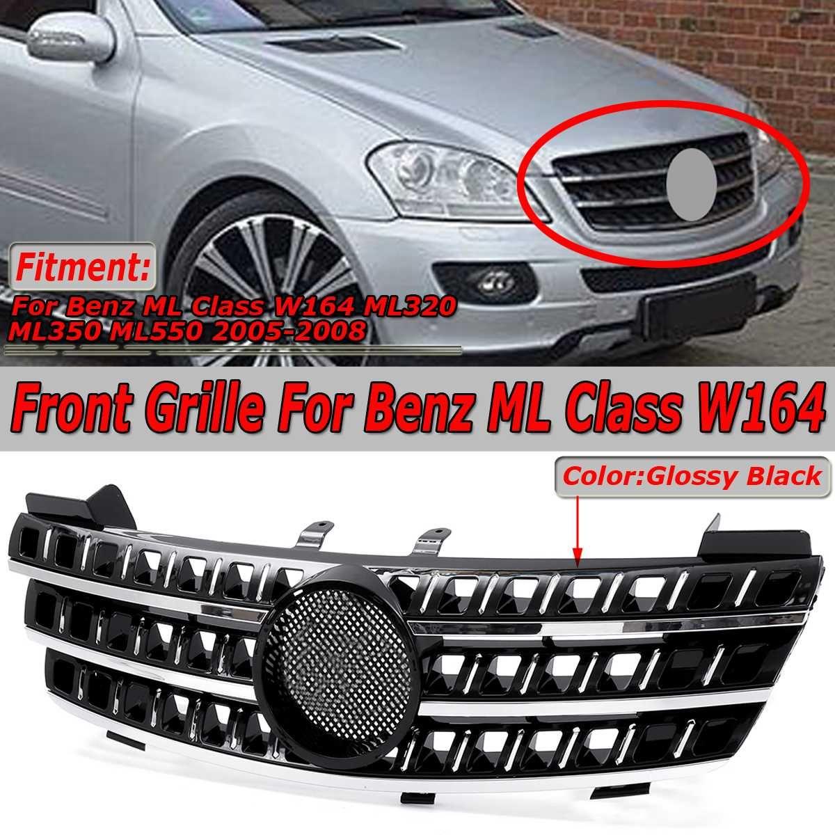 Hohe Qualität Auto Vorderen Stoßfänger Oberen Kühlergrill Grill Für Mercedes Für Benz ML Klasse W164 ML320 ML350 ML550 05 -08 Racing Grille