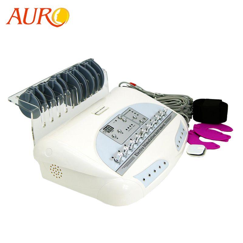Livraison gratuite AURO 2019 personnel russie vague électrodes EMS Muscle stimulateur corps minceur Machine de Massage avec les meilleurs résultats