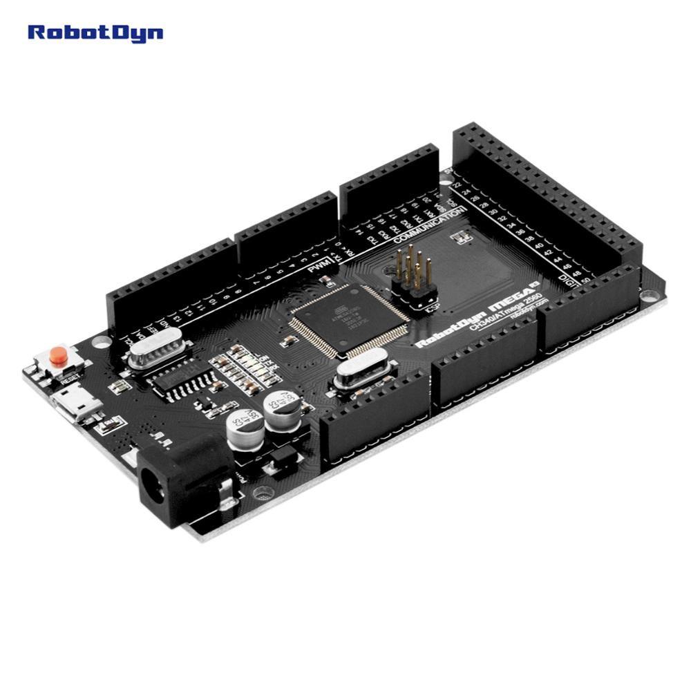 Mega 2560 R3 CH340G/ATmega2560-16AU, MicroUSB. Compatible pour Arduino Mega 2560. Avec Chargeur de Démarrage.