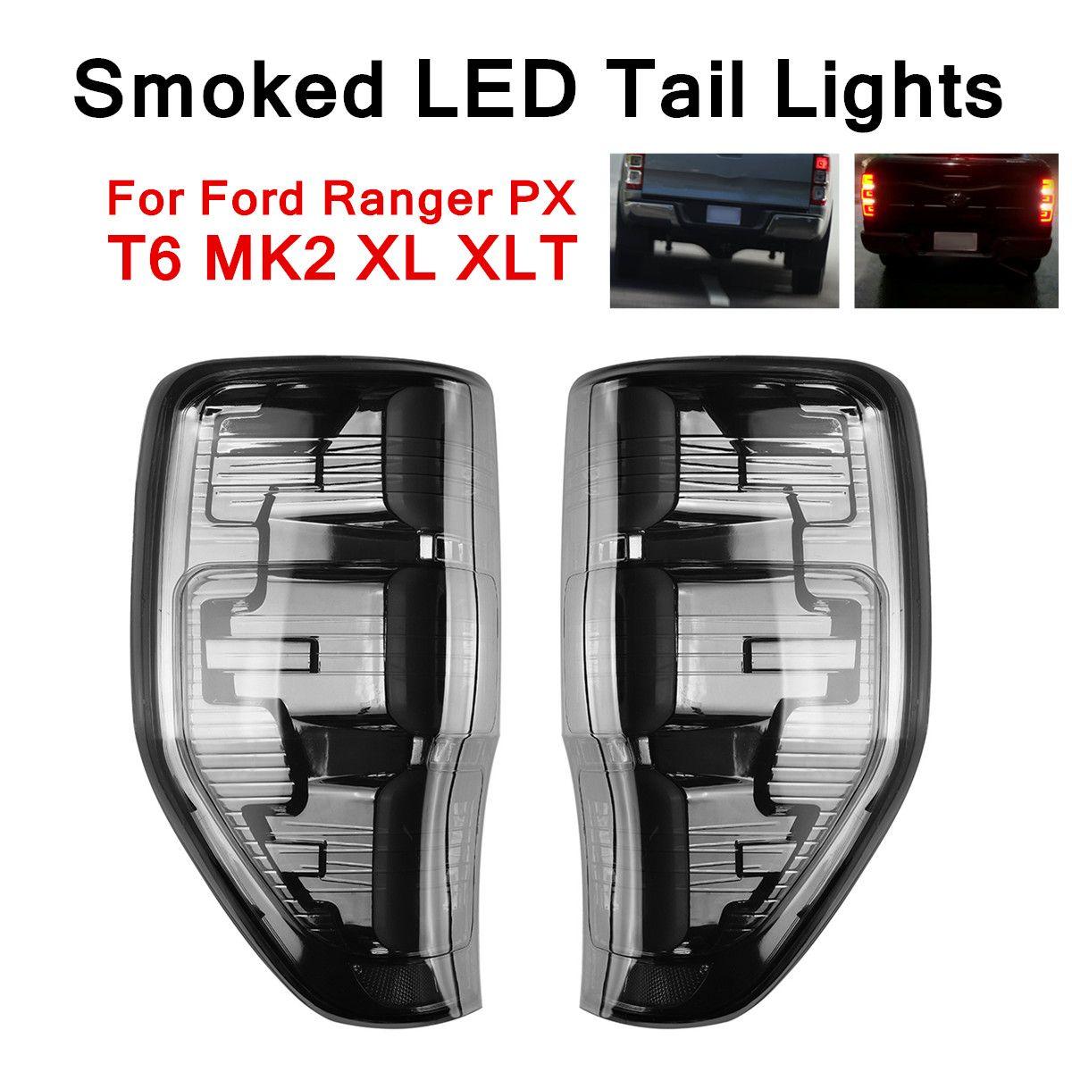 Volle Led-leuchten Schwanz Hinten Lampe Licht Smoked Edition Auto Energie Saving Low Power Verbrauch ABS Für Ford Ranger PX t6 MK2 XL XLT