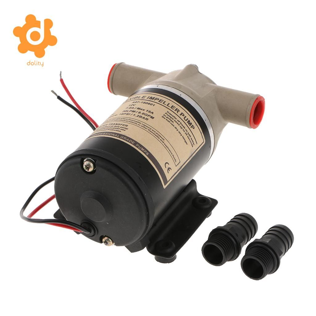 12V 8 GPM 30 LPM Self Priming Centrifugal Impeller Bilge Pump Marine RV