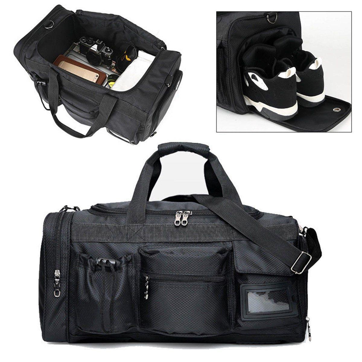 Grande capacité week-end sac à bagages voyage sacs de sport formation sac de sport toile multifonction sac à main femme en plein air sport fourre-tout