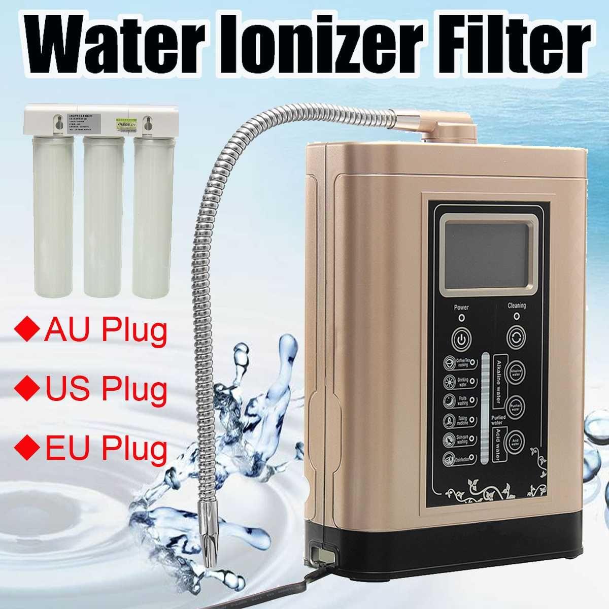 Wasser Ionisator Reiniger Maschine Alkalische Säure Gewässern Filter LCD Touch Control