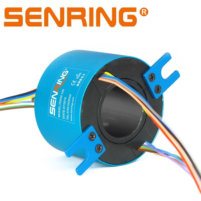 Hole Shaft Conductive Slip Ring Hole Bore Sliprings Hole Size 20mm OD42mm 12 Circuits 2A Signals Transmission