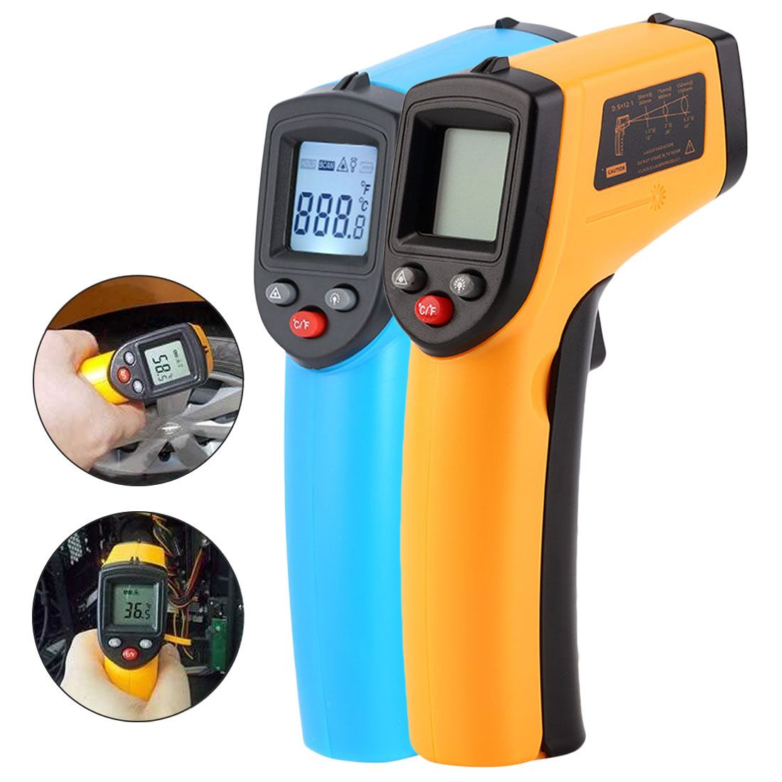 Digital GM320 Infrared Thermometer Non Contact Infrared Thermometer Pyrometer IR Laser Temperature Meter Gun -50~380C