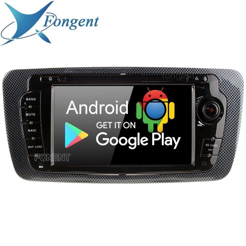 IPS Android 9.0 Einheit 4 Gb + 64 Gb 8-Core RDS Auto DVD Radio GPS Navi Multimedia Player für sitz Ibiza 2012 2013 2014 GPS Radio Stereo