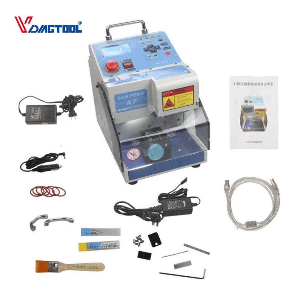 VDIAGTOOL Automatische Elektronische MIRACLE-A7 Schlüssel Schneiden Maschine WUNDER A7 Auto Schlüssel