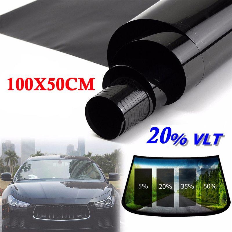 50 X 100cm 20% VLT Roll Black House Car SUV Side Window Glass Tint Film Anti-UV